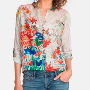 Johnny Was Amelia Floral Long-Sleeve (Size S)